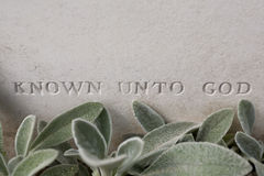 First world war unknown soldier's grave Royalty Free Stock Images