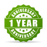 First year anniversary vector icon. Isolated on white background Royalty Free Stock Photo