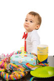 First year birthday of lovely boy Stock Photos