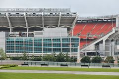 FirstEnergy Stadium. CLEVELAND, USA - JUNE 29, 2013: FirstEnergy Stadium exterior view in Cleveland. It is home of NFL team Cleveland Browns stock image