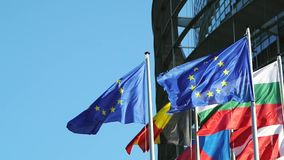 Firsts EU countries flags Stock Photo