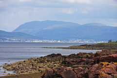 Firth of Clyde. Low tide on the Firth of Clyde Stock Photo
