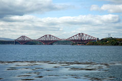 Firth of Forth Bridge Scotland. Forth Bridge in Scotland connects Edinburgh with Fife Stock Images