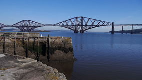 Firth of Forth Bridge in Scotland stock video
