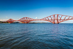 Firth of Forth Bridge in sunny day Royalty Free Stock Photos