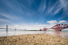 Firth of Forth Bridges Royalty Free Stock Images