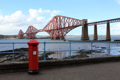 Firth of fourth railway bridge royalty free stock photography