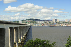 Firth of Tay road bridge, Scotland Stock Photos