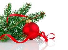 firtree рождества ветви шарика Стоковое фото RF