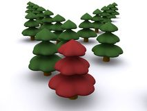 Firtree. Abstract christmas trees. 3d firtree Stock Images