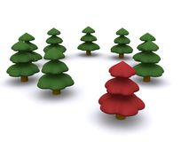 Firtree. Abstract christmas tree. 3D firtree Royalty Free Stock Image