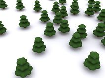 Firtree. Abstract christmas tree. 3D firtree Stock Photo