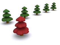 Firtree. Abstract christmas tree. 3D firtree Stock Images