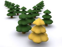 Firtree. Abstract christmas tree. 3D firtree Stock Image