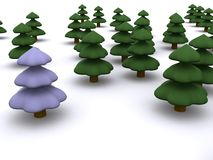 Firtree. Abstract christmas tree. 3D firtree Royalty Free Stock Images