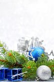 Firtree and christmas decor Royalty Free Stock Photos