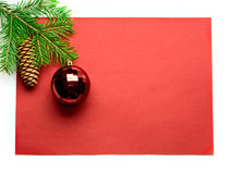 Firtree and Christmas-tree decoration Stock Image
