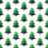 Firtree in isometric style on a white background. Royalty Free Stock Images