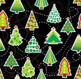 Firtree Seamless Beckground. Seamless background with different New Year trees Stock Photos