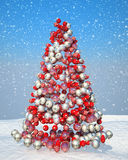 Firtree shape assembled with Xmas decoration Stock Photography