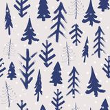 Firtree winter hand drawn background, watercolor seamless pattern. Firtree winter hand drawn background, watercolor simple  seamless pattern Royalty Free Stock Image