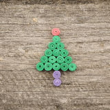 Firtrees made with quilling technique Stock Photos