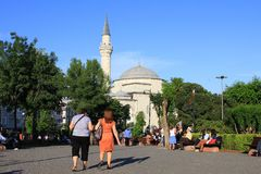 Firuz agi meczet, Sultanahmet kwadrat, Istanbuł Zdjęcia Stock
