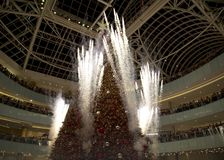 Firworks on Grand tree lighting celebration feat Galleria. Fireworks on Grand tree lighting celebration feat Galleria Dallas TX USA 2017 Stock Image