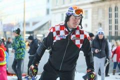 FIS世界雪天在萨格勒布 库存照片