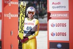 FIS跳台滑雪的世界杯在扎科帕内2016年 库存照片