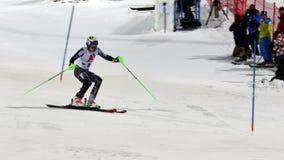FIS高山滑雪世界杯2019年施拉德明,亨利Kristorffersen,挪威 免版税图库摄影