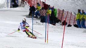 FIS高山滑雪世界杯2019年施拉德明,Loic Meillard,瑞士 免版税库存照片