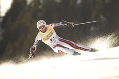 FIS Alpine Ski World cup race Stock Image