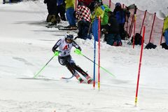 FIS Alpine Ski World Cup 2019 Schladming, Henrik Kristorffersen, Norway. Henrik Kristorffersen competing in the FIS Alpine Ski World Cup Night Slalom in stock photography