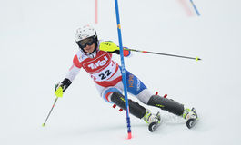 FIS Europa Cup - Women's Slalom Royalty Free Stock Image