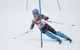 FIS Europa filiżanka - kobiety Slalomowe Obraz Stock