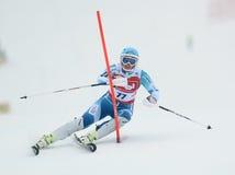 FIS Europa filiżanka - kobiety Slalomowe Obrazy Royalty Free