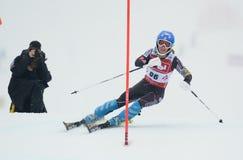 FIS Europa filiżanka - kobiety Slalomowe Obraz Royalty Free