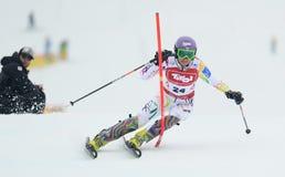 FIS Europa filiżanka - kobiety Slalomowe Zdjęcia Stock