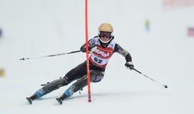 FIS Europa filiżanka - kobiety Slalomowe Fotografia Royalty Free