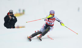 FIS Europa filiżanka - kobiety Slalomowe Fotografia Stock