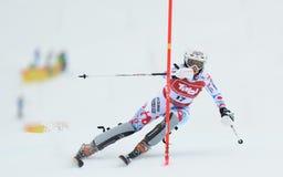 FIS Europa filiżanka - kobiety Slalomowe Zdjęcie Royalty Free