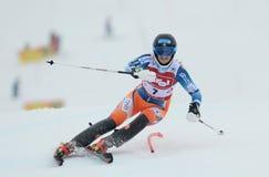 FIS Europa filiżanka - kobiety Slalomowe Zdjęcie Stock