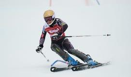 FIS Europa filiżanka - kobiety Slalomowe Obrazy Stock