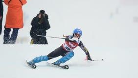 FIS Europa filiżanka - kobiety Slalomowe Zdjęcia Royalty Free