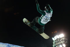 FIS Snowboard Big Air World Cup Stock Photo