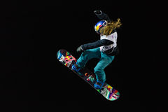 FIS Snowboard Big Air World Cup. ISTANBUL, TURKEY - DECEMBER 20, 2014: Ty Walker jump in FIS Snowboard World Cup Big Air. This is first Big Air event for both Stock Photo