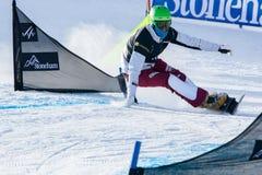 FIS Snowboard World Championships 2013, Stoneham. STONEHAM, QUEBEC - JANUARY 27: 5th place, Parallel slalom SCHOCH Simon SUI, FIS Snowboard World Championships Stock Photo