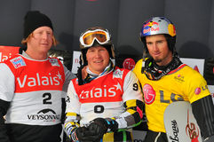 FIS Snowboard World Cup Snowboard Cross Royalty Free Stock Photo