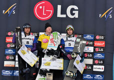 FIS Snowboard World Cup Snowboard Cross Royalty Free Stock Images